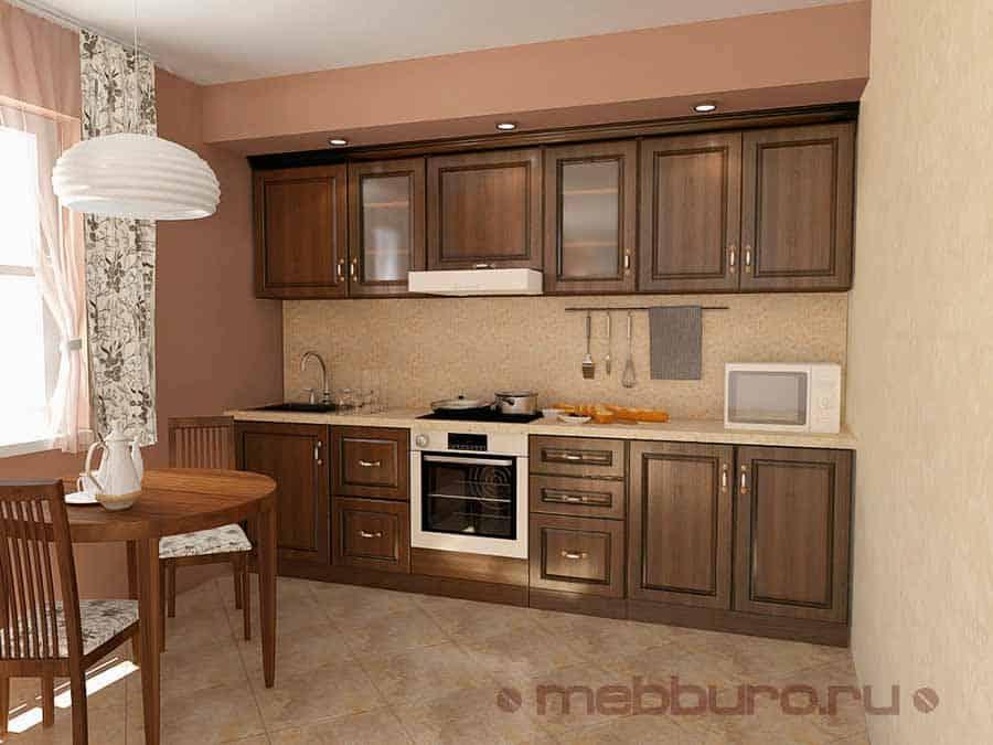 Кухня 3 метра цвет Орех