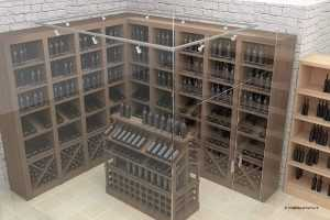 Разработан дизайн-проект торгового оборудования для винного магазина