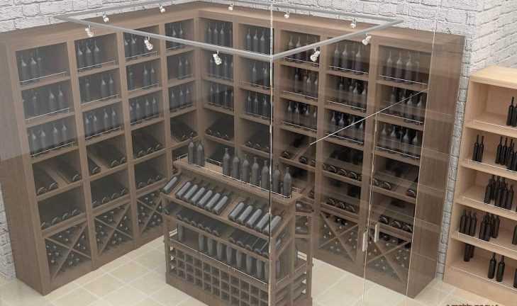 Дизайн-проект торгового оборудования для винного магазина