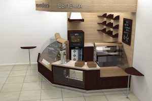 Дизайн булочной для компании «Мико»