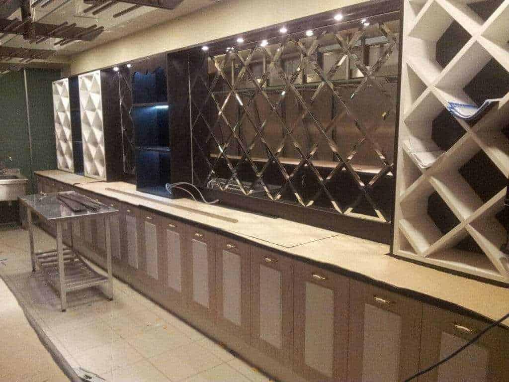 Завершен монтаж барной стойки для ресторана Kapitel