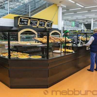 Хлебный корнер в гипермаркет для свежей выпечки