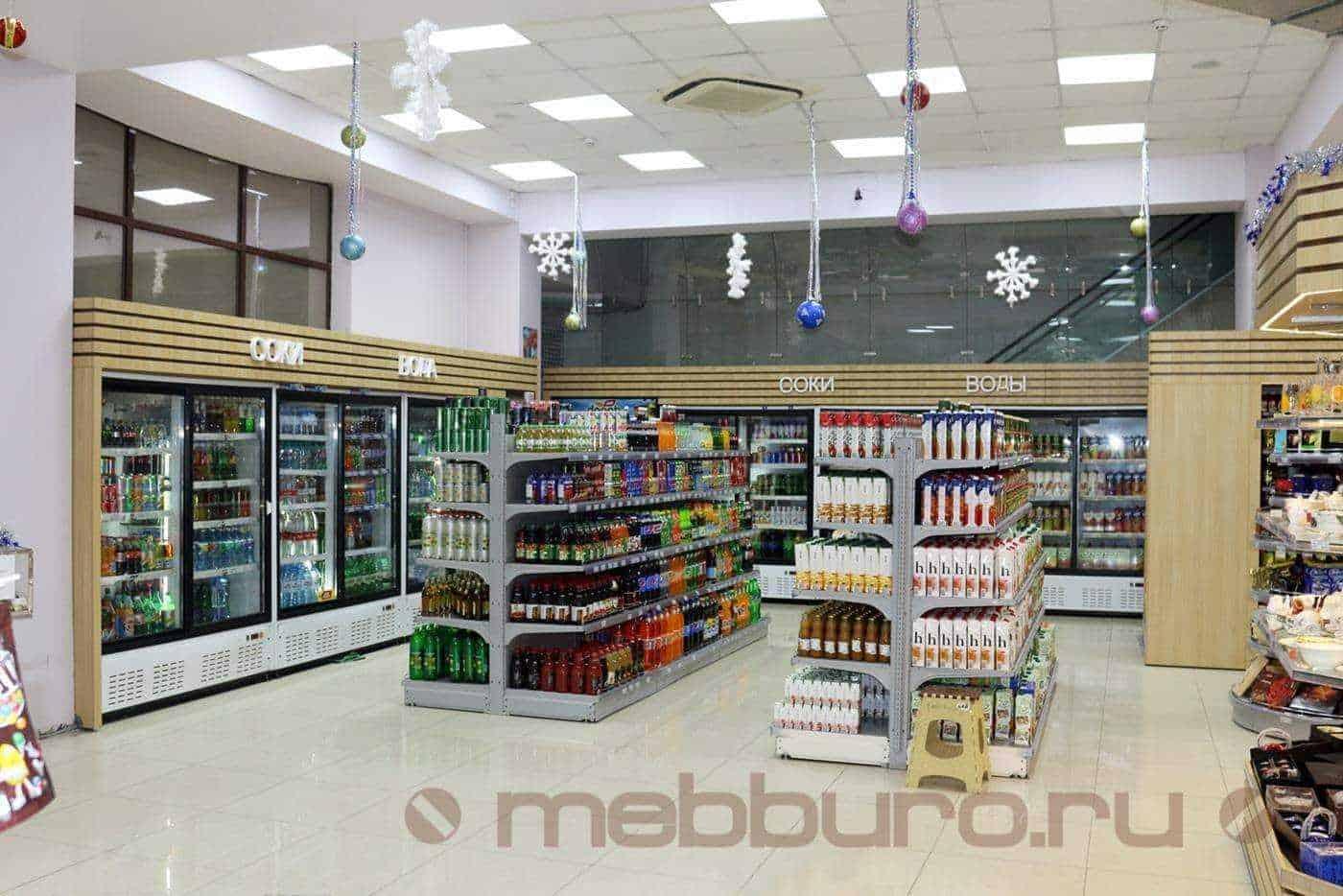 Что делалось: произведен апгрейд холодильных витрин, создание декоративного фриза с буквами, боковин. Объединение всех холодильных витрин в одну концепцию.