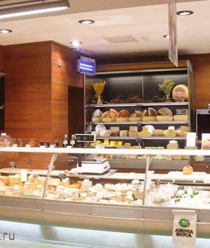 мебель для магазина сыр общий вид