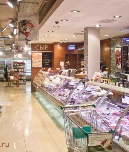 Сырный отдел супермаркет Азбука вкуса