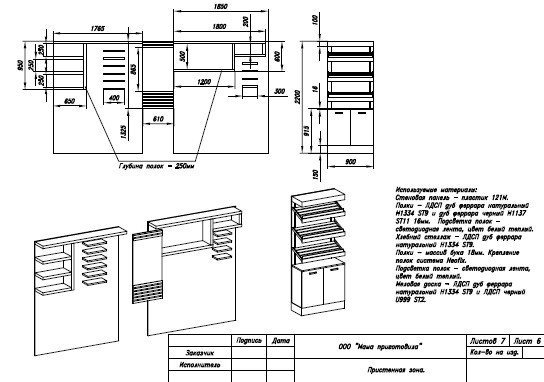 проект мебели для домашней кулинарии 2