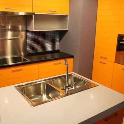 Кухня «Оранжевый глянец МДФ»