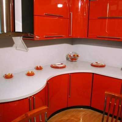 Кухня «Красный глянец»
