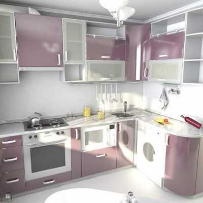 Кухня «Фиолетовый глянец МДФ»