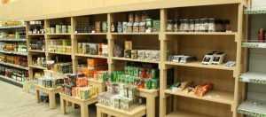 Торговое оборудование для дачного супермаркета «Дарвин»