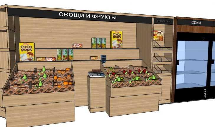 Разработан проект отдела овощи-фрукты