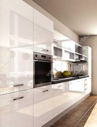 Сравнение технологий изготовления глянцевых фасадов для ванны и кухни