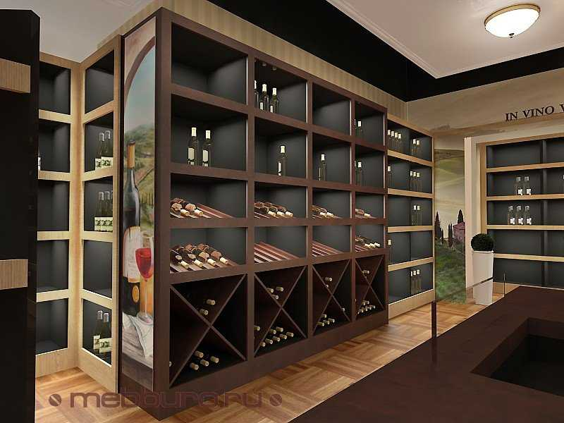 Дизайн стеллажей для алкогольной продукции
