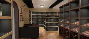 Дизайн проект пристенных стеллажей для вина