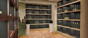 Дизайн проект пристенных стеллажей для алкоголя