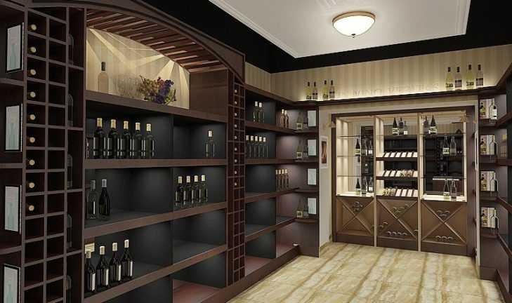 Разработан дизайн винного магазина, для продажи элитного алкоголя