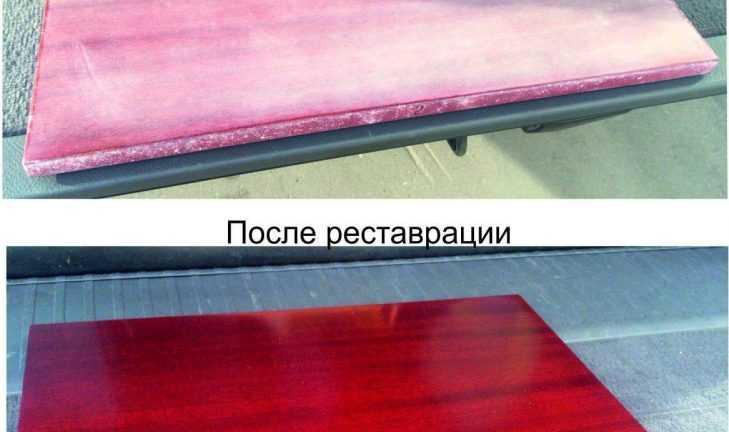 Реставрация полированной мебели