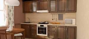Кухня 3 метра темная