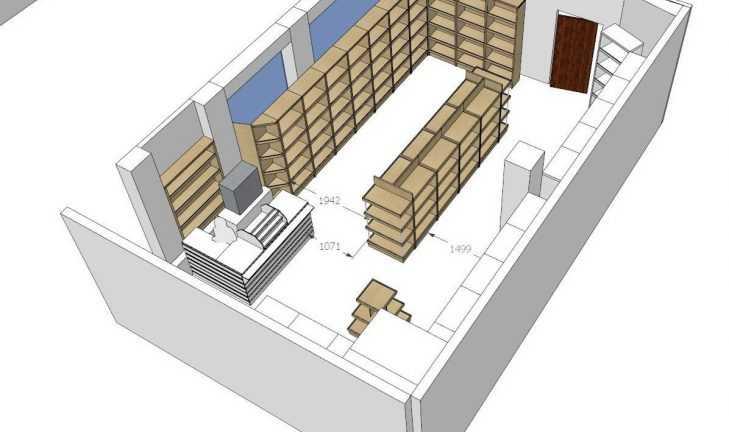 Ребрендинг торгового оборудования сети винных магазинов «Лавина»