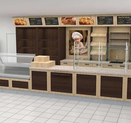 Линейное расположение дизайн пекарни