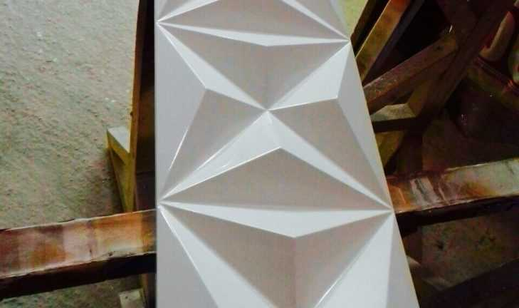 3D-панели под белым глянцем