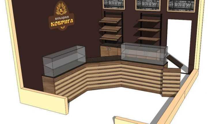 Торговая мебель для продажи выпечки