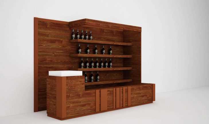 Остров для алкоголя shop-in-shop
