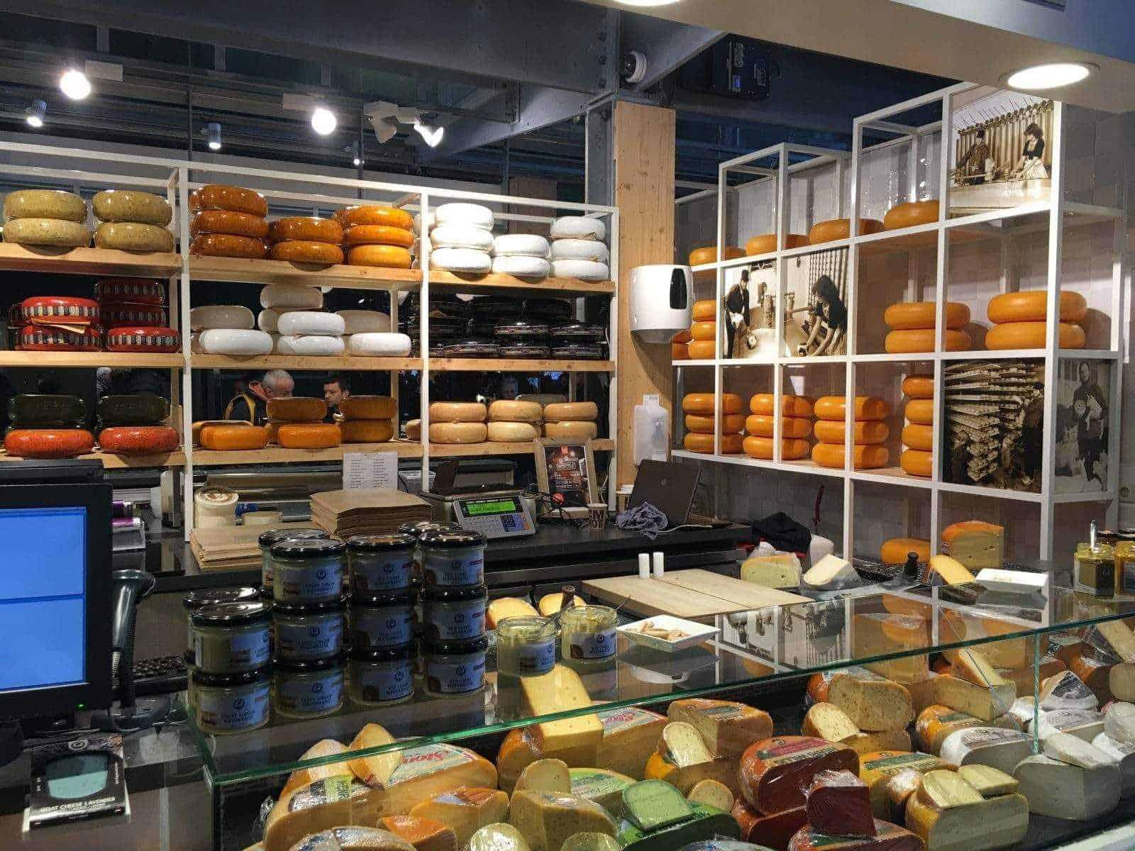 Сырный магазин вид