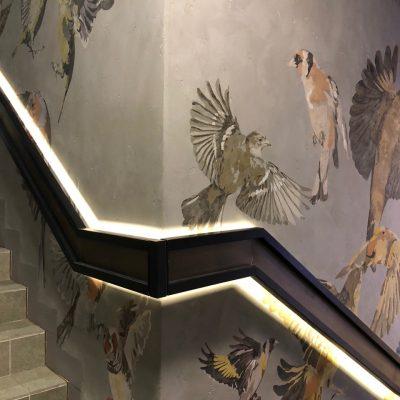 Художественная роспись стен для ресторана