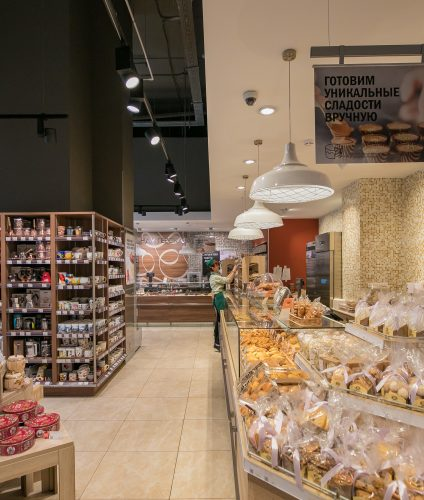 Хлебный отдел в супермаркете